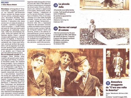 """Il Giorno Milano in edicola oggi con una pagina intera sulla nostra mostra """"American Kids"""""""
