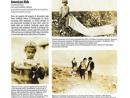 """Tutti Fotografi in edicola questo mese con una pagina intera sulla nostra mostra """"American Kids"""""""