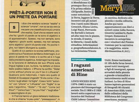 """Il Venerdì di Repubblica in edicola con la nostra mostra """"Lewis Hine. American Kids"""""""