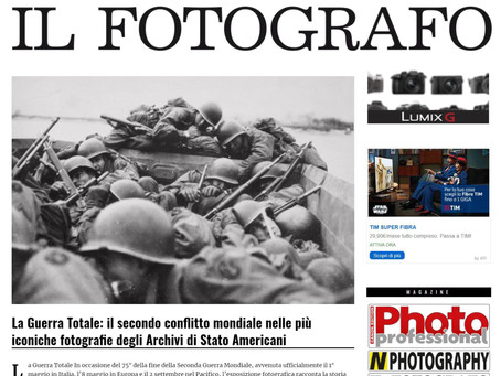 Nella home page de Il Fotografo.it  la nostra mostra #laGuerraTotale
