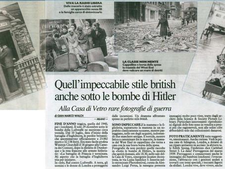 """oggi si conclude la mostra """"SOTTO LE BOMBE DI HITLER"""""""