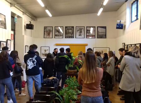 """visita guidata alla mostra """"American Kids"""" con gli studenti del Liceo Federici di Trescore Balneario"""