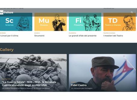 Rai Cultura mette in home page la notizia che la nostra mostra #laGuerraTotale riapre dal 18 maggio