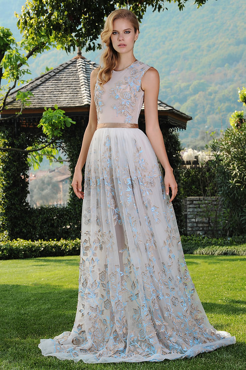 Tulle Lace Long Dress