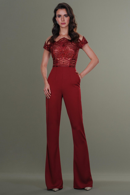 Hand Embroidered Jumpsuit
