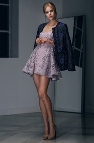 Strapless Mini Dress and Hand Embroidered Jacket