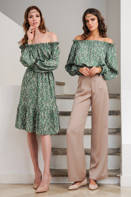 Silk Dress / Silk Blouse and Cady Pants