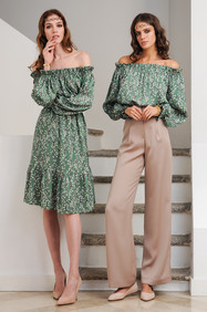 Silk Dress / Silk Blouse and Cady Pants