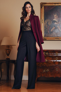 Hand Embroidered Jumpsuit and Cashmere Coat