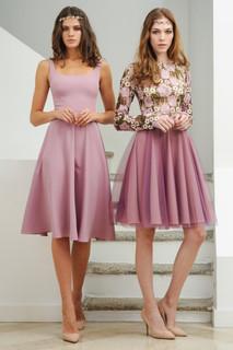 Cady Midi Dress / Flowery Lace Dress
