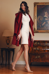 Cashmere Coat and Double Crepe Dress