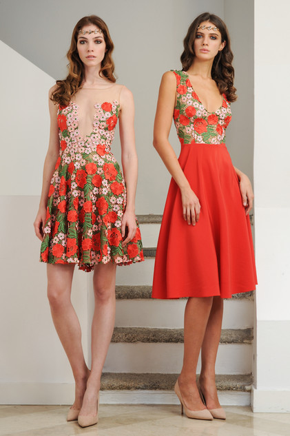 Mini Dress Coral Lace / Mini Lace Cady Dress