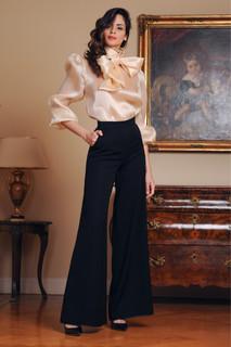 Silk Organza Blouse and Cady Pants