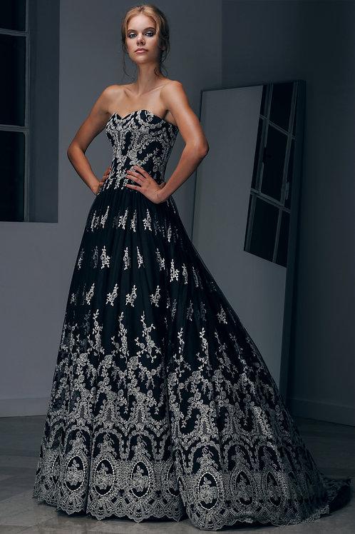 Unique Long Lace Dress