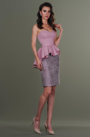 Cotton Skirt and Gathering Draped Top