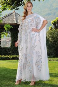 Silk Lace Chiffon Kaftan