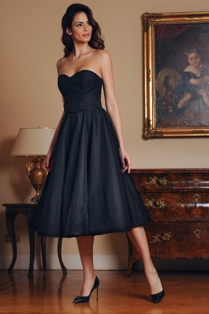 Strapless Midi Length Dress