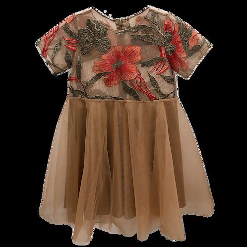 Lace Tule Dress Bambina
