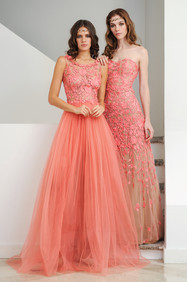 Lace Embroidered Long Dress