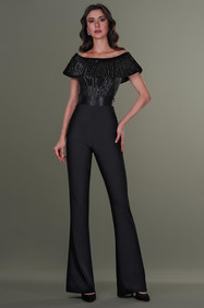 Hand Embroidered Corset and High Waist Pants