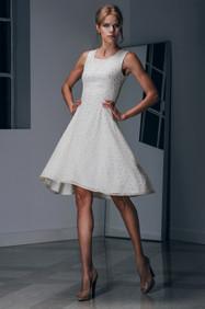 Lace Flare Midi Dress