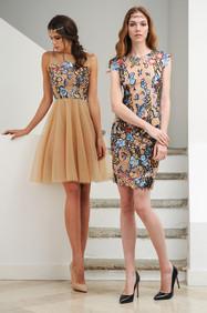Fantasy Lace Full Skirt Dress / Fantasy Lace Short Dress