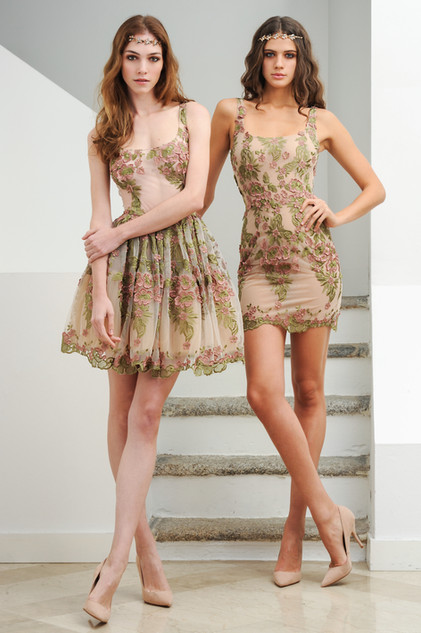 Short Full Skirt Lace Dress / Short Lace Dress