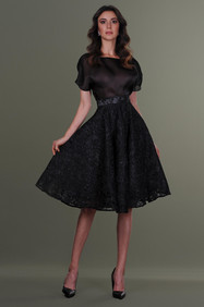 Organza Blouse and Midi Lace Skirt