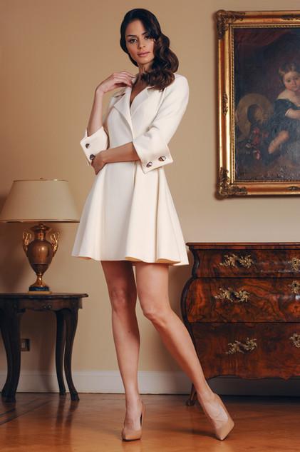Double Lana Crepe Dress