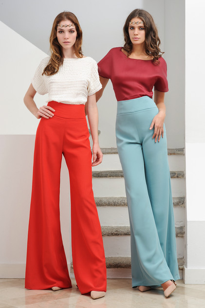 Organza Blouse and Cady Pants