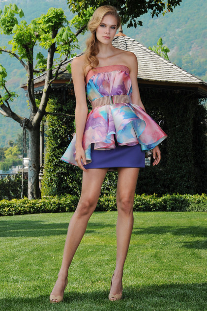 Organza Top and Cady Short Skirt