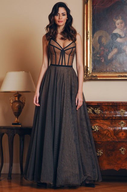 Tulle Bustier and Tulle Flare Skirt