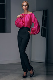 Silk Organza Blouse and Cady Pants