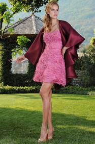 Silk Organza Unique Dress and Silk Organza Cape