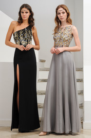 Hand Lace Embroidered Long Dress