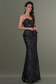 Strapless Lace Top and Long Lace Skirt