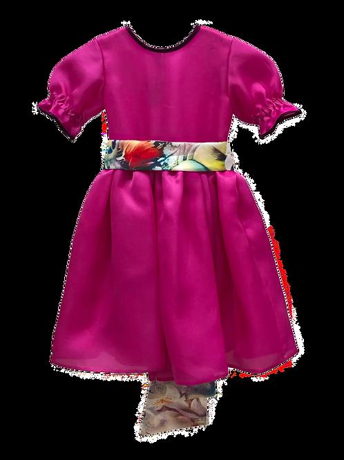 Pink Organza Dress Bambina
