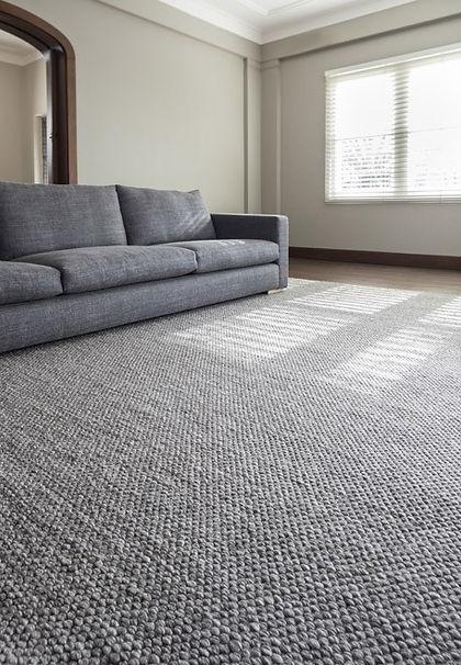 Modern, Handmade, Wool rug