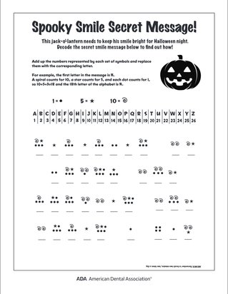 Can you solve the Spooky Smile Secret Message??