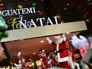 Público lota Iguatemi Esplanada para assistir à festa de chegada do Papai Noel