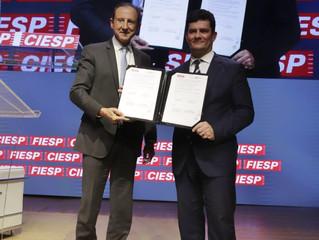 Empresários sorocabanos participam de reunião com ministro Sérgio Moro e presidente da FIESP e do CI