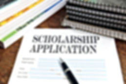 blank scholarship  application on deskto