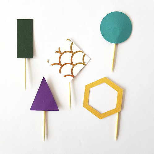 Toppers Geométricos