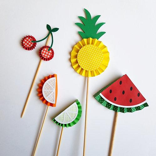 Topo de Bolo Salada de Frutas