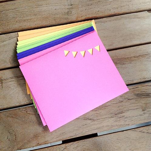 Envelope + cartão neon