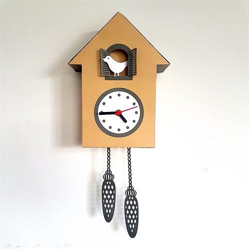 Relógio Cuco de Papel