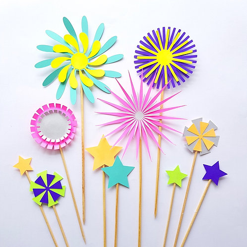 Topo de Bolo Fireworks