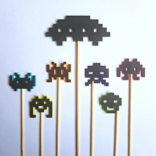 """Topo de Bolo """"Space Invaders"""""""