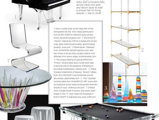 Filotto Billiard Table Featured in Florida Design's Miami Edition