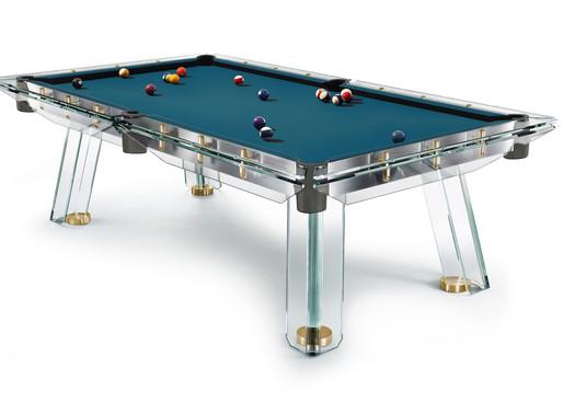Go Gold with Impatia's New Gold-Plated Filotto Billiard Table